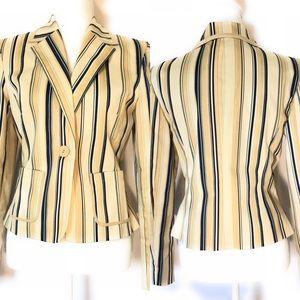 Casual corner striped blazer, Sz 4, Multicolored